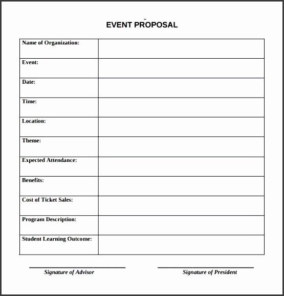 Best Event Proposal Template Ideas Event