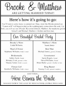 printable wedding program templates