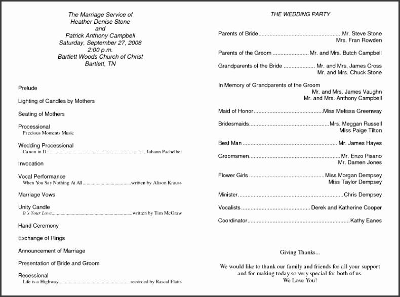 100 Wedding Ceremony Templates Free 2 Modern Wedding Sample Wedding Programs Templates Wedding