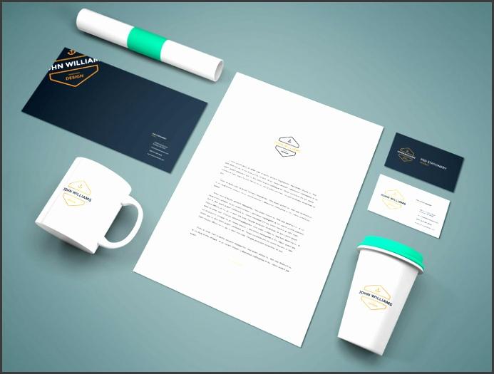 Free Branding Stationery PSD Mockup Vol 9