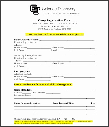templates for registration forms