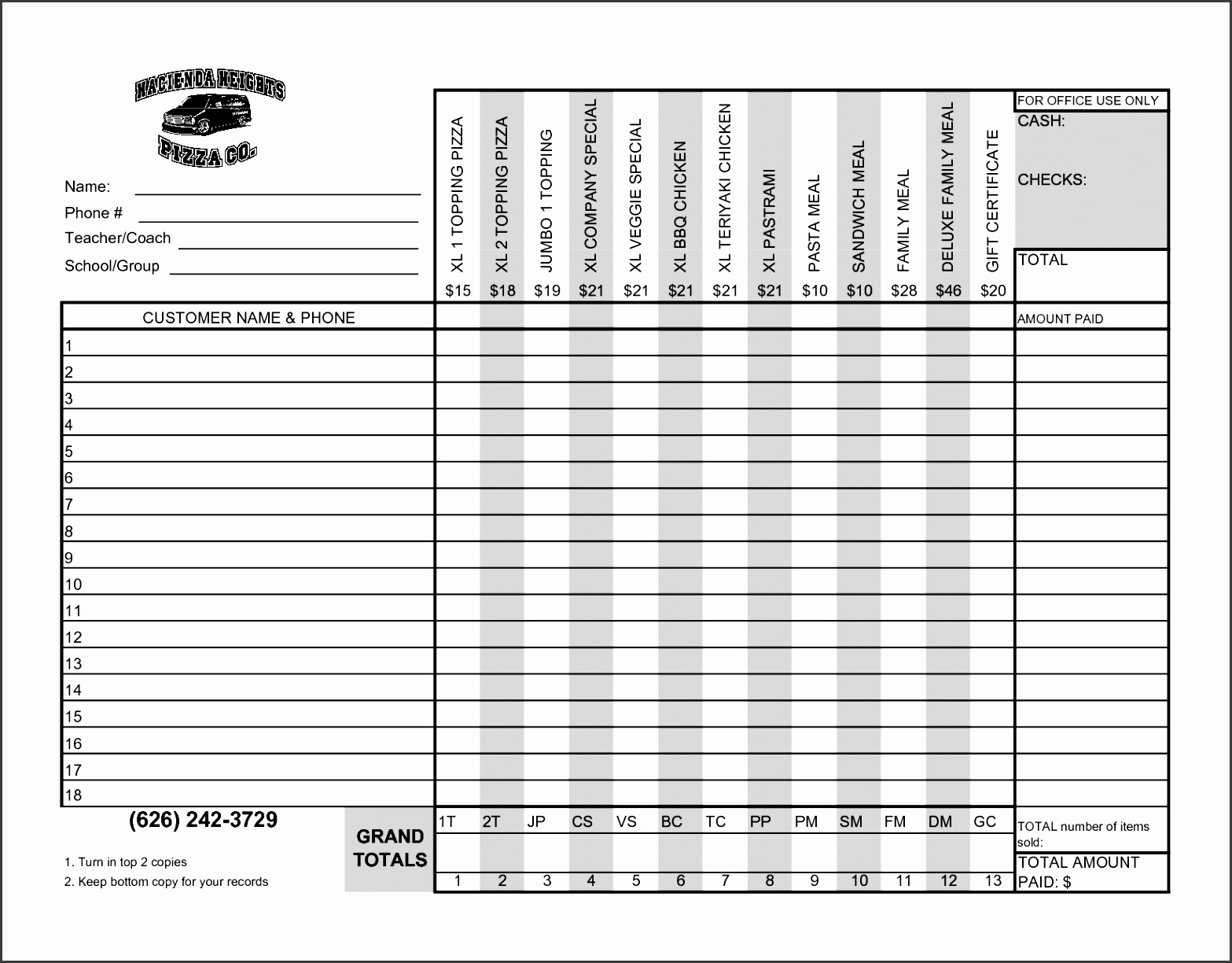 Order Forms Templates Free Word Free Printable Rental Lease