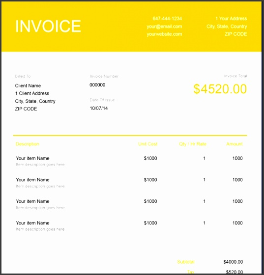 Download a Snow Removal Invoice Template