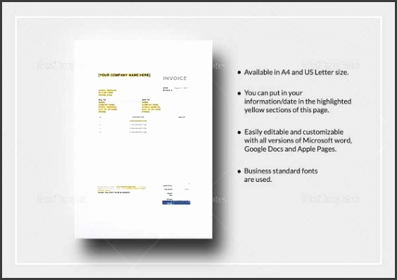 Printable Sales Tax Invoice Template