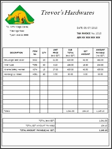 Australian Tax Invoice 15 Austrialian Tax Invoice Templates free tax invoice template