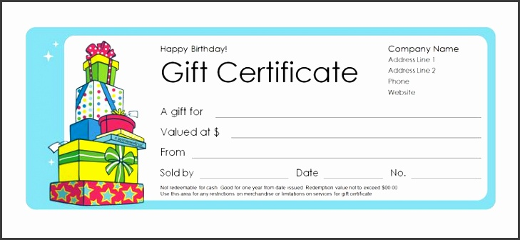 A birthday t certificate template