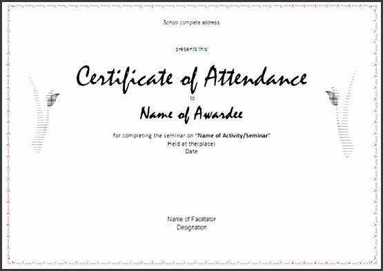 Attendance Certificates Free Templates Attendance Certificate Templates 23 Free Word Pdf Documents Free