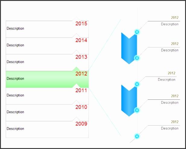 simple timeline chart