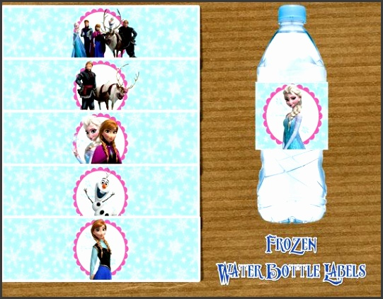 Disney Frozen Printable Water Bottle Labels by RayningGrace $5 00