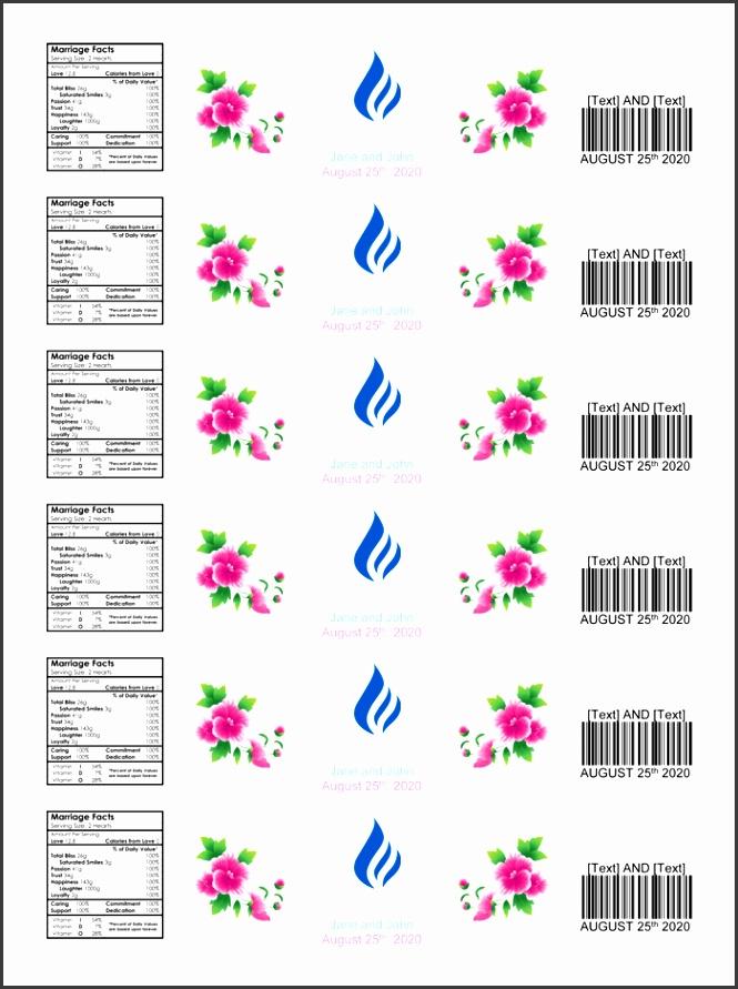 water bottle label template make personalized bottle labels
