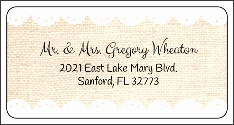 "OL125 4"" x 2"" Burlap Address Labels"