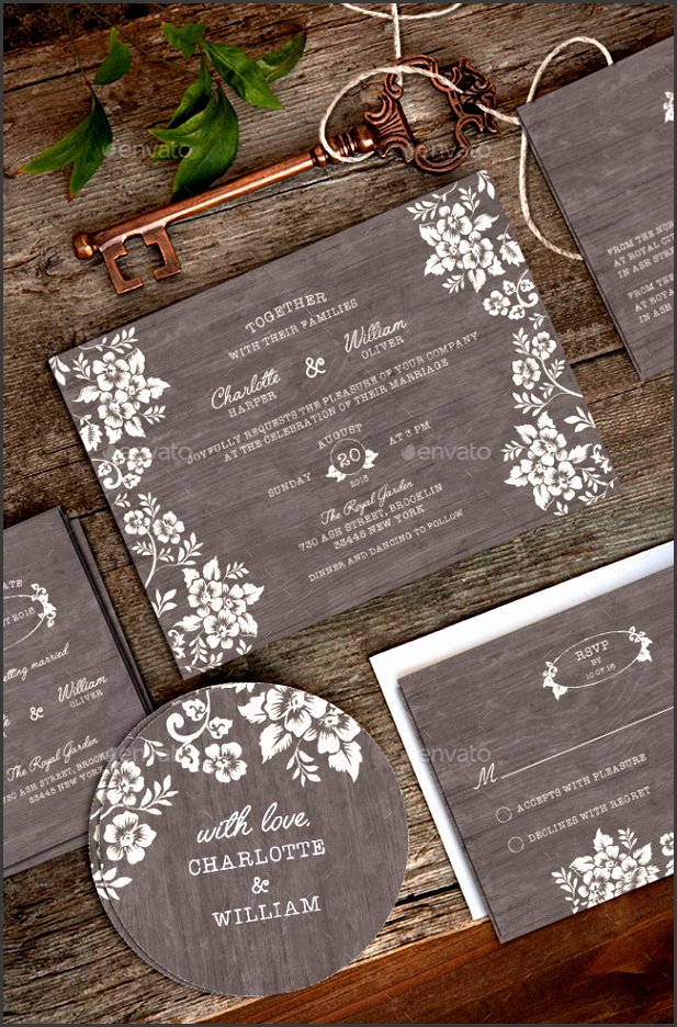 Wedding Invitation Package PSD