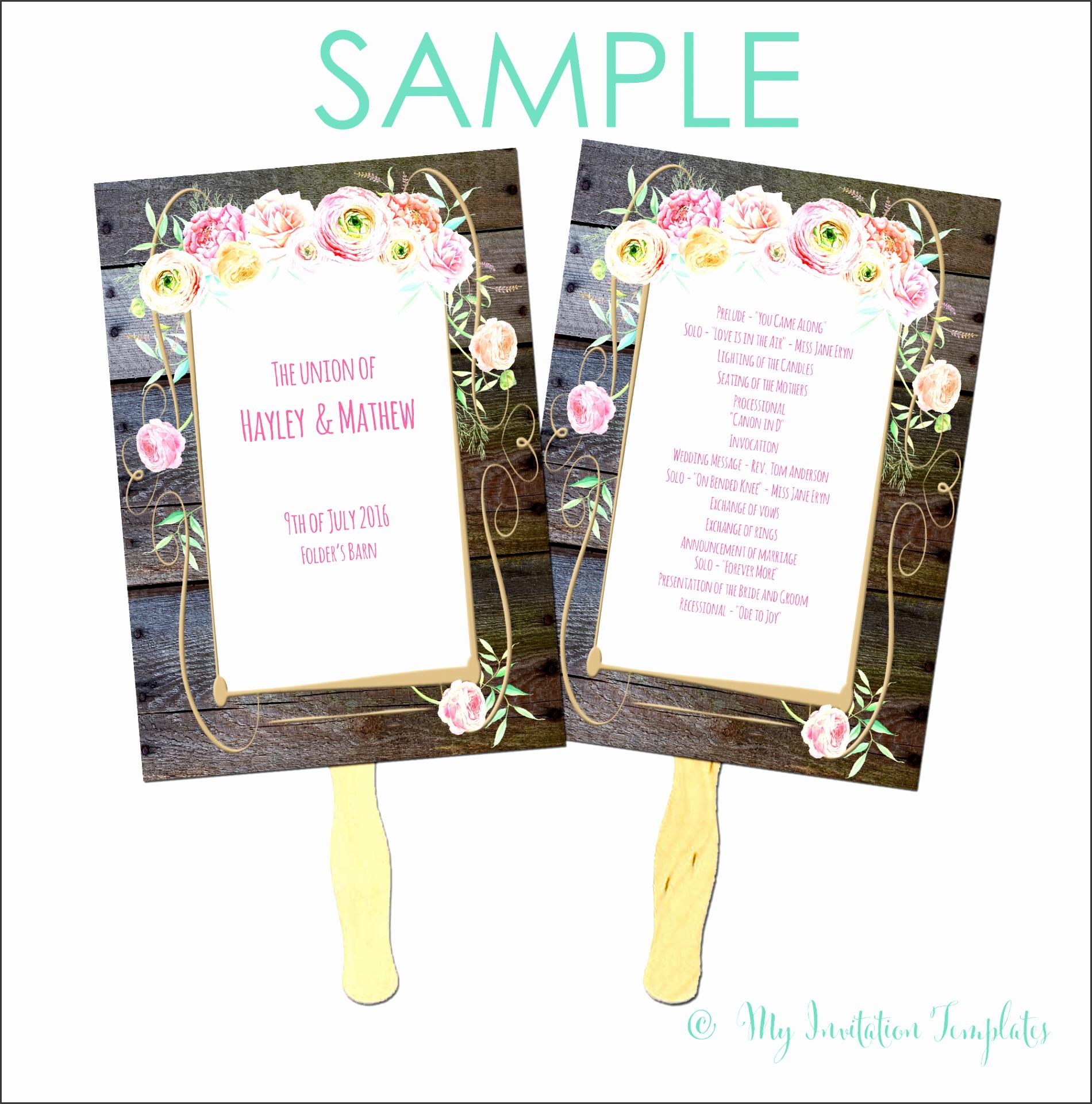 Country Flower fan program Free sample