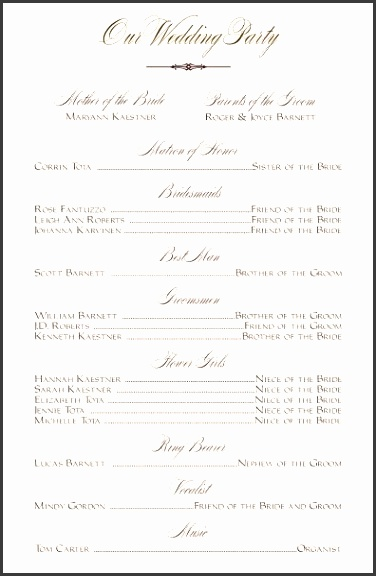 35 Best Printable Wedding Programs Pinterest