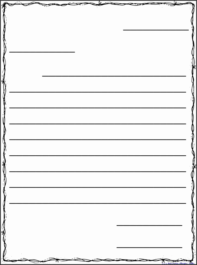 Blank Friendly Letter Template 29 Printable Letter Template For Students Infovia Templates
