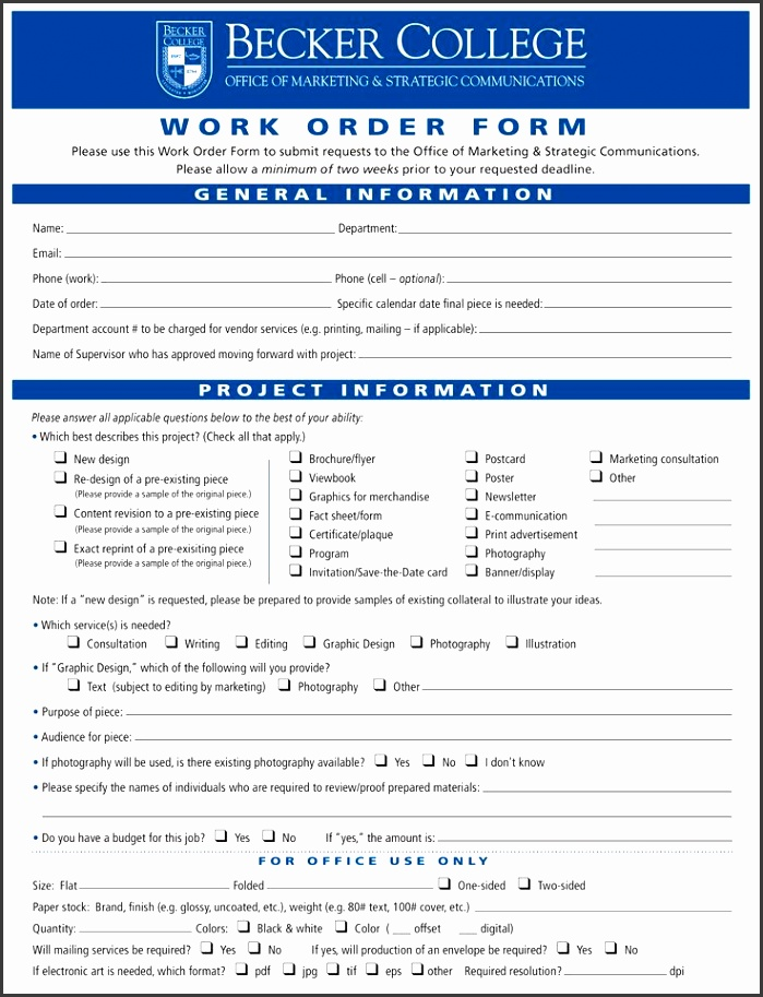 Graphic Design Work Order Form example Download this Graphic fundraiser order form templates free