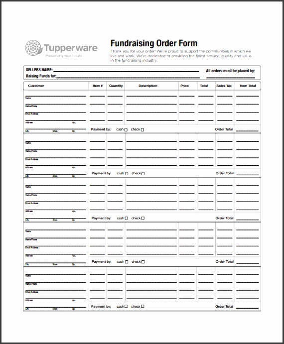 Fundraiser order form Template3