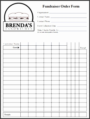 Fundraiser Order Form Templates