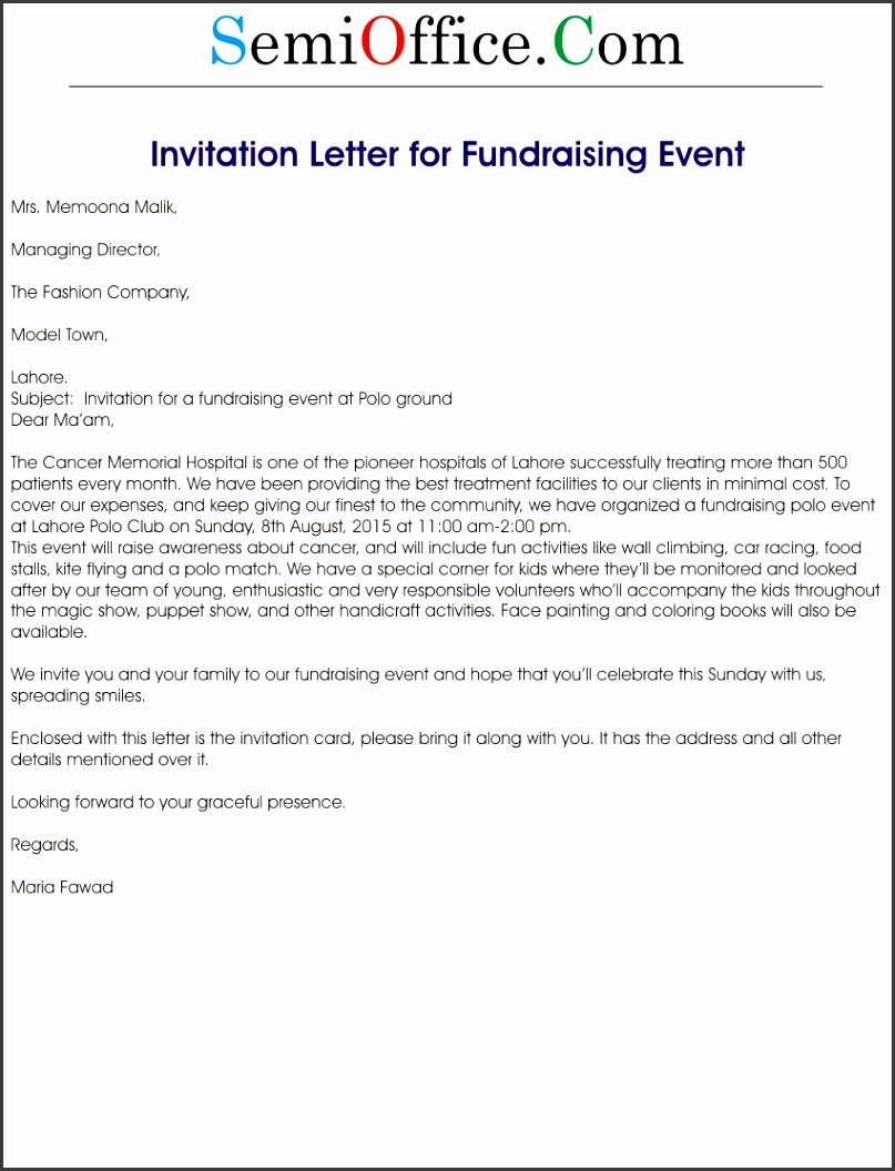Fundraising Letter Template throughout Event Notification Letter