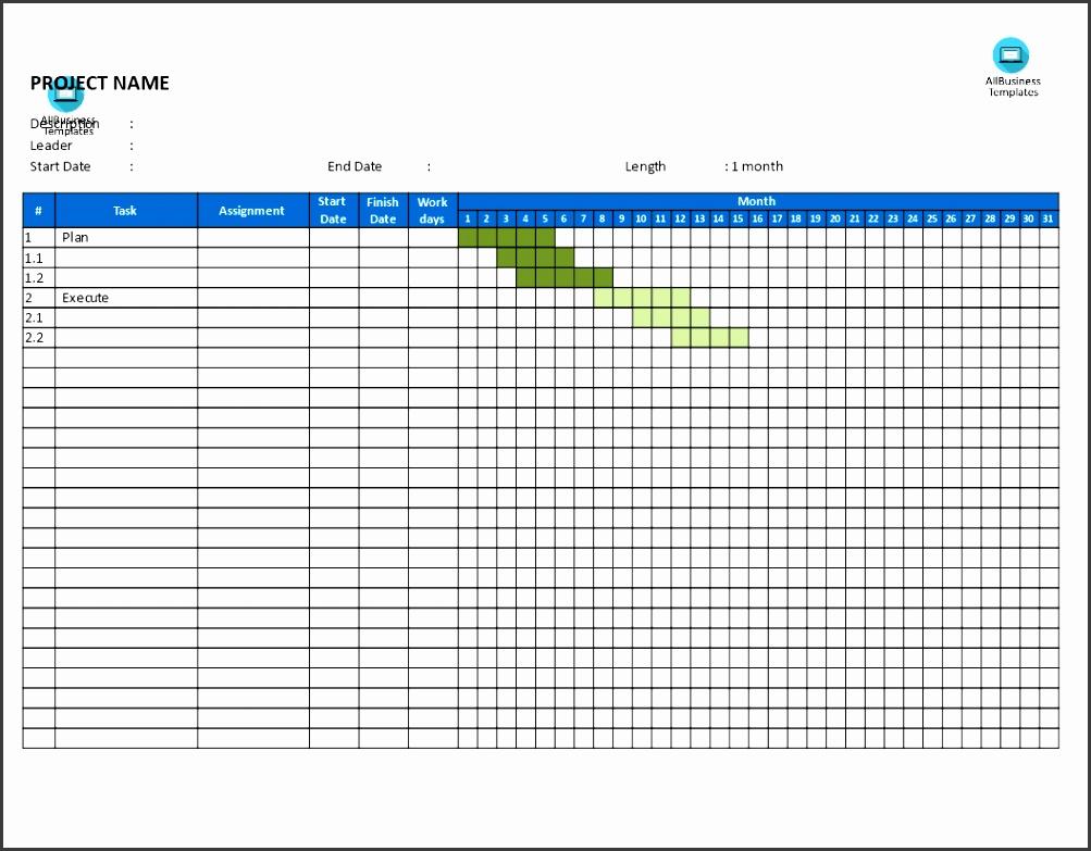 Gantt Chart template main image