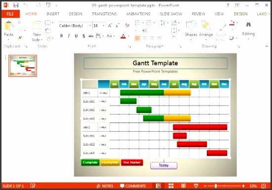 simple gantt chart template for powerpoint