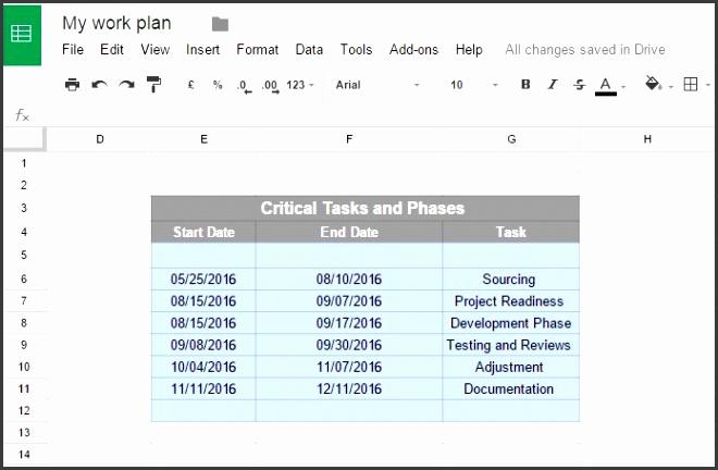fice Timeline Gantt Charts In Google Docs regarding Google Docs Gantt Chart Template