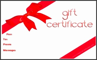 Free Gift Certificate Template 20 designs