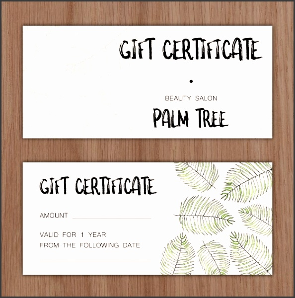 Gift certificate Free Vector