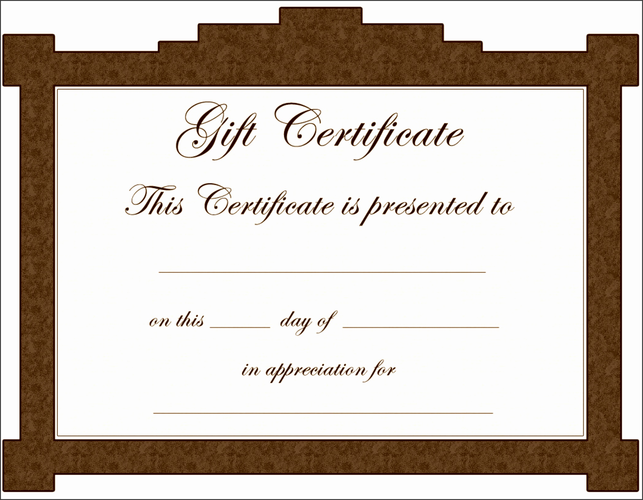 Avon Gift Certificate Template
