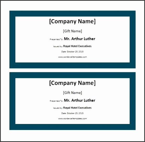 Hotel Gift Certificate Templates 11 Free Word Pdf Format Hotel Voucher Template