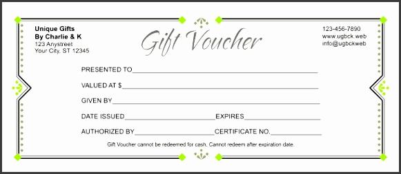 Gift Voucher Template 3E