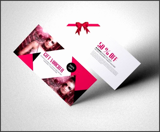 Fashion Gift Voucher Template Cards