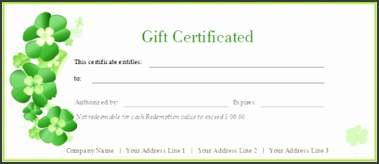 certificate template greenflowers