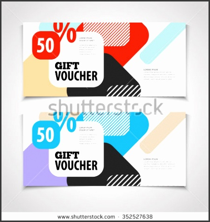 abstract t voucher or coupon design template blank print vector flyer
