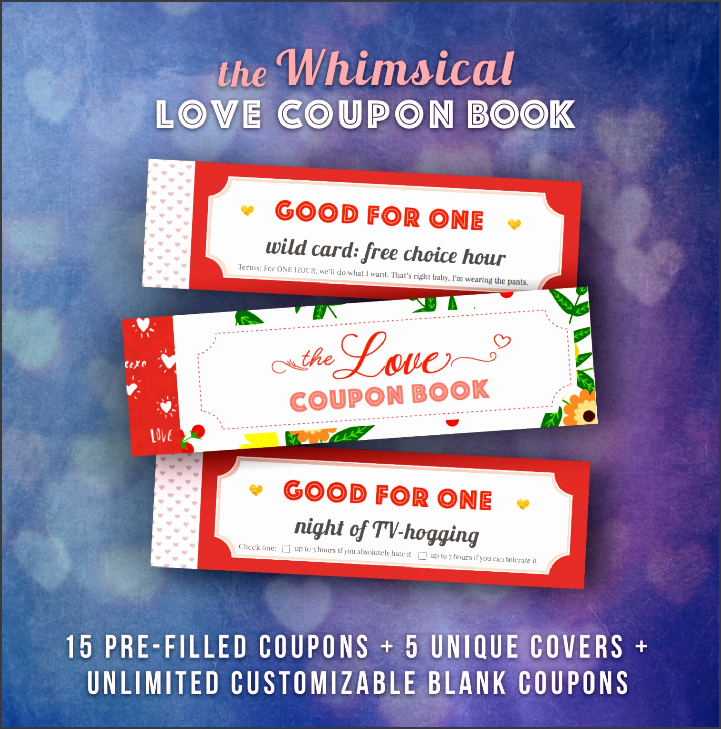 Love Coupons Book for Him Valentines Day Gift Ideas Husband Gift Vouchers