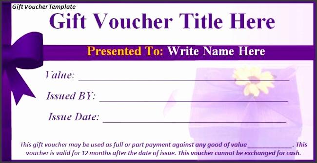 Gift Voucher Template Best Word Templates