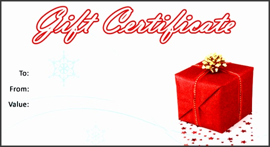 Free Christmas Gift Certificate Template