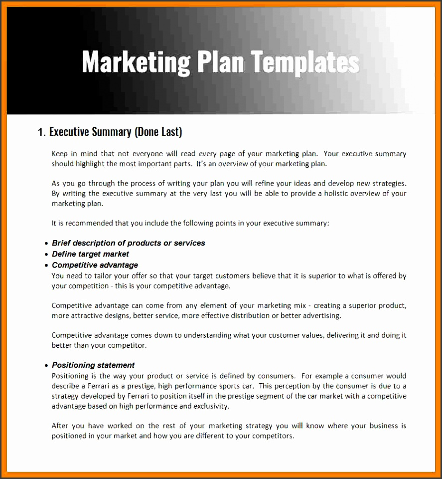 marketing plan for small business pdf