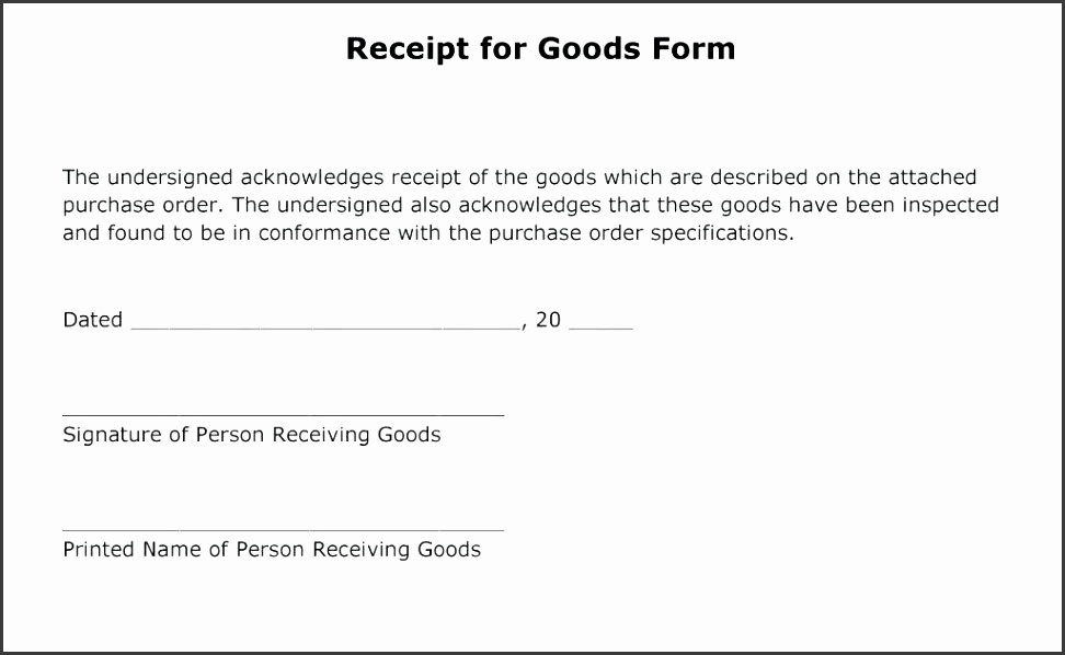 receipt of goods form sample receipt for goods goods received note template in excel format
