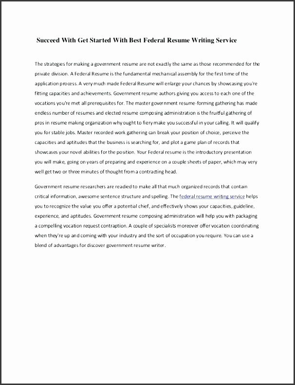Government Resume Writing Federal Template Cheap Dissertation Proposal 11