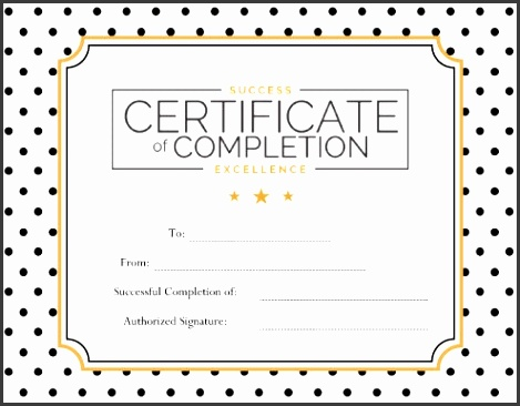 Excellence Certificate Templates