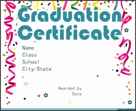 Graduation Certificate graduation certificate