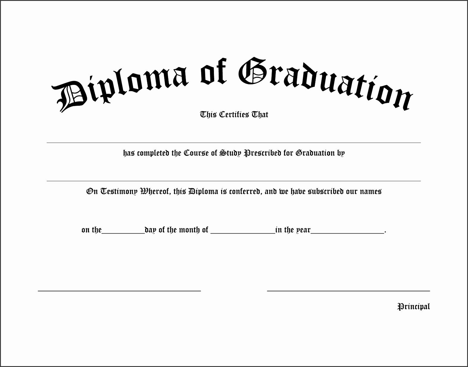 diploma of graduation certificate templates new