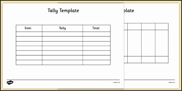 Tally Template tally template tally chart graph maths numeracy
