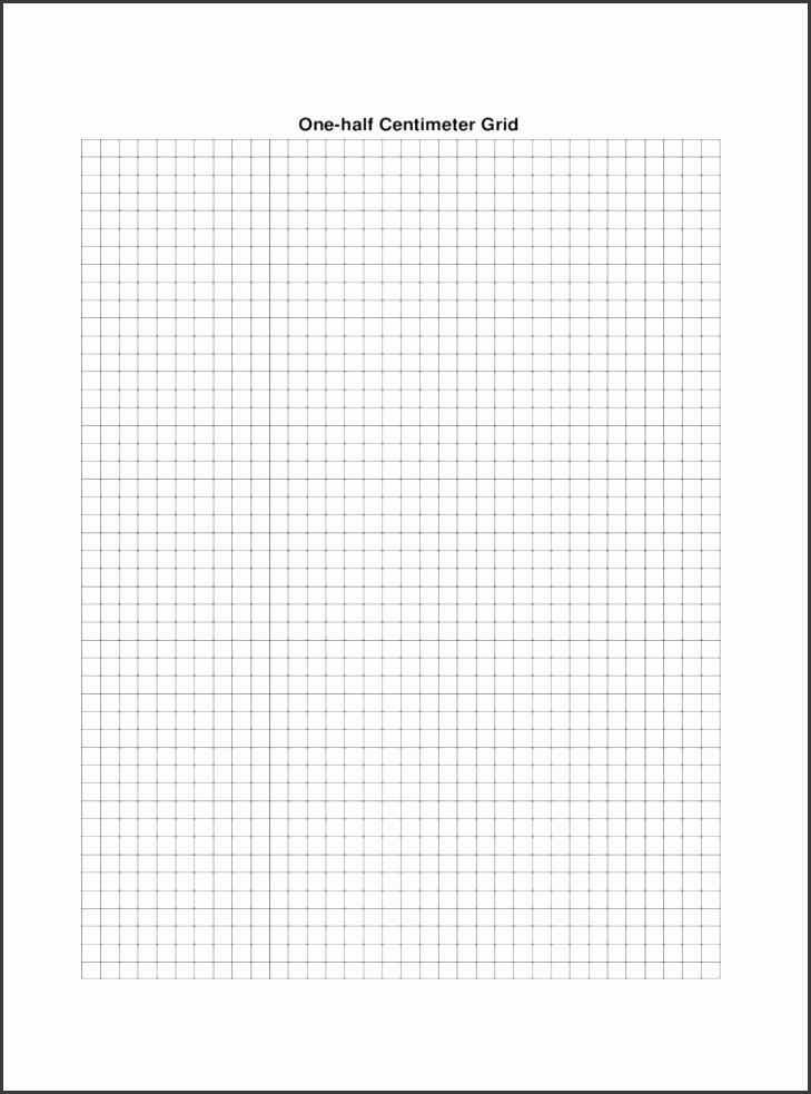 e half Centimeter Graph Paper Template