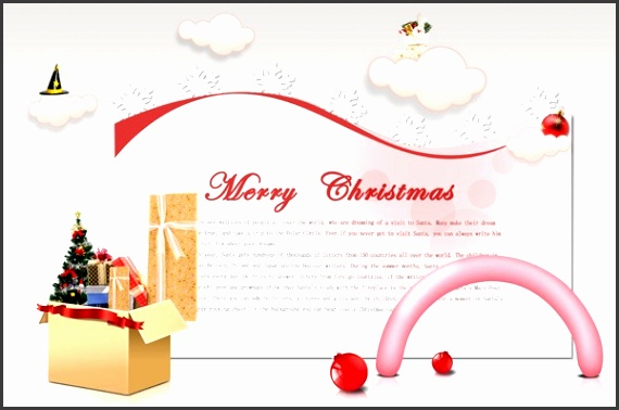 Christmas greeting card templates PSD material