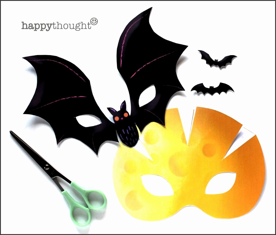 Instantly make printable Halloween masks for parties
