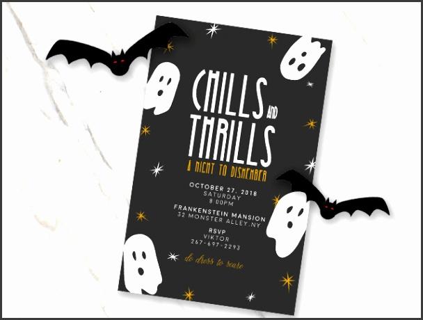 Chills&Thrills Halloween invitation template