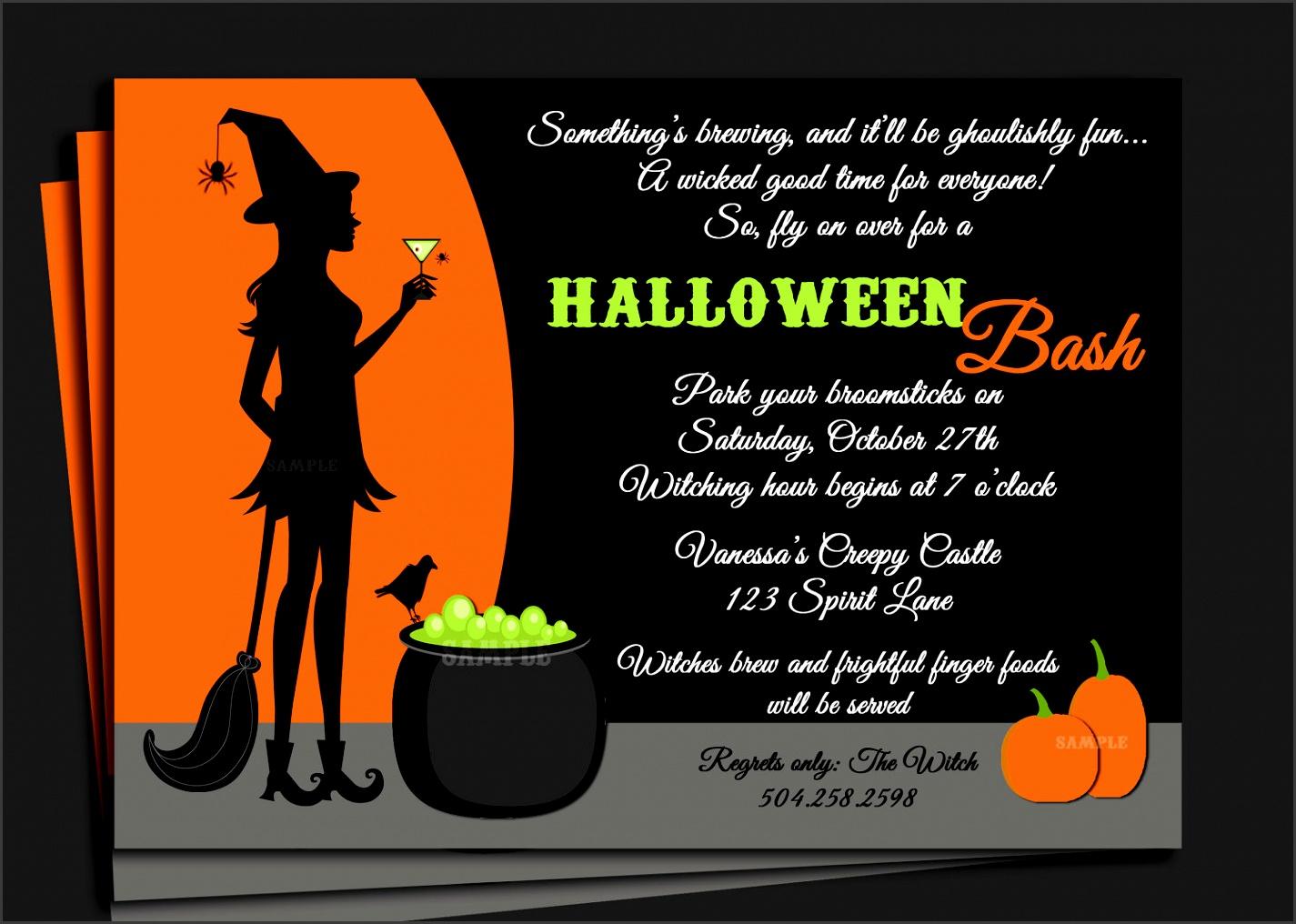 Free Halloween Birthday Invitations Templates Ideas