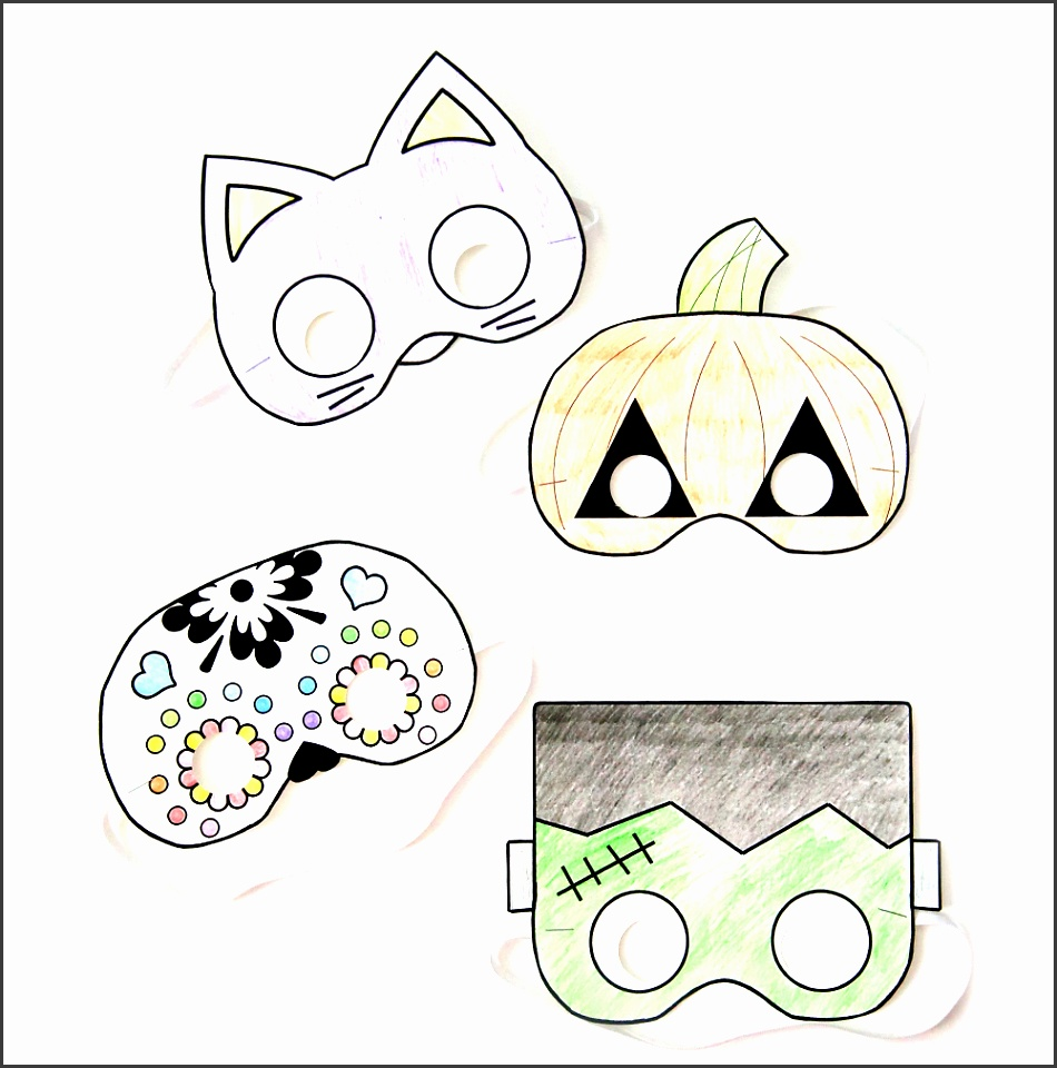 printable halloween mask kids easy cheap class party activity 15